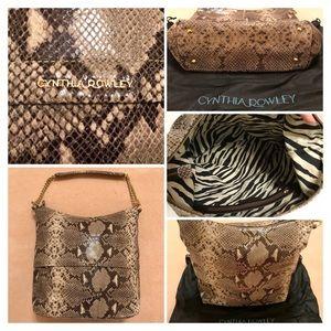 CYNTHIA ROWLEY Snakeskin Bag {Like New!}